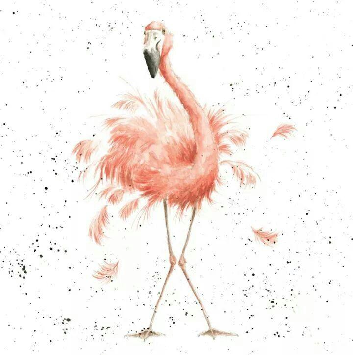 Открытки с фламинго с днем рождения