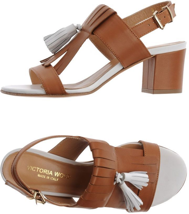 VICTORIA WOOD Sandals finishline low shipping fee cheap price h40zCP7adf