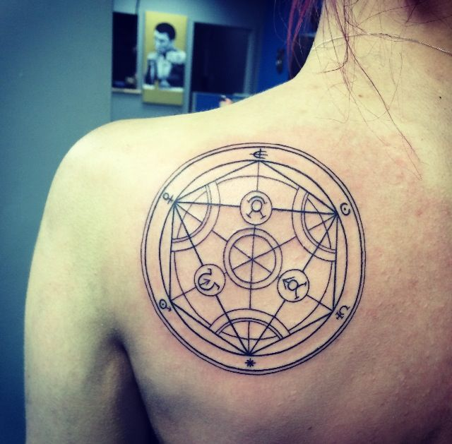 Fullmetal Alchemist Transmutation Circle Better Centered Between Shoulder Blades