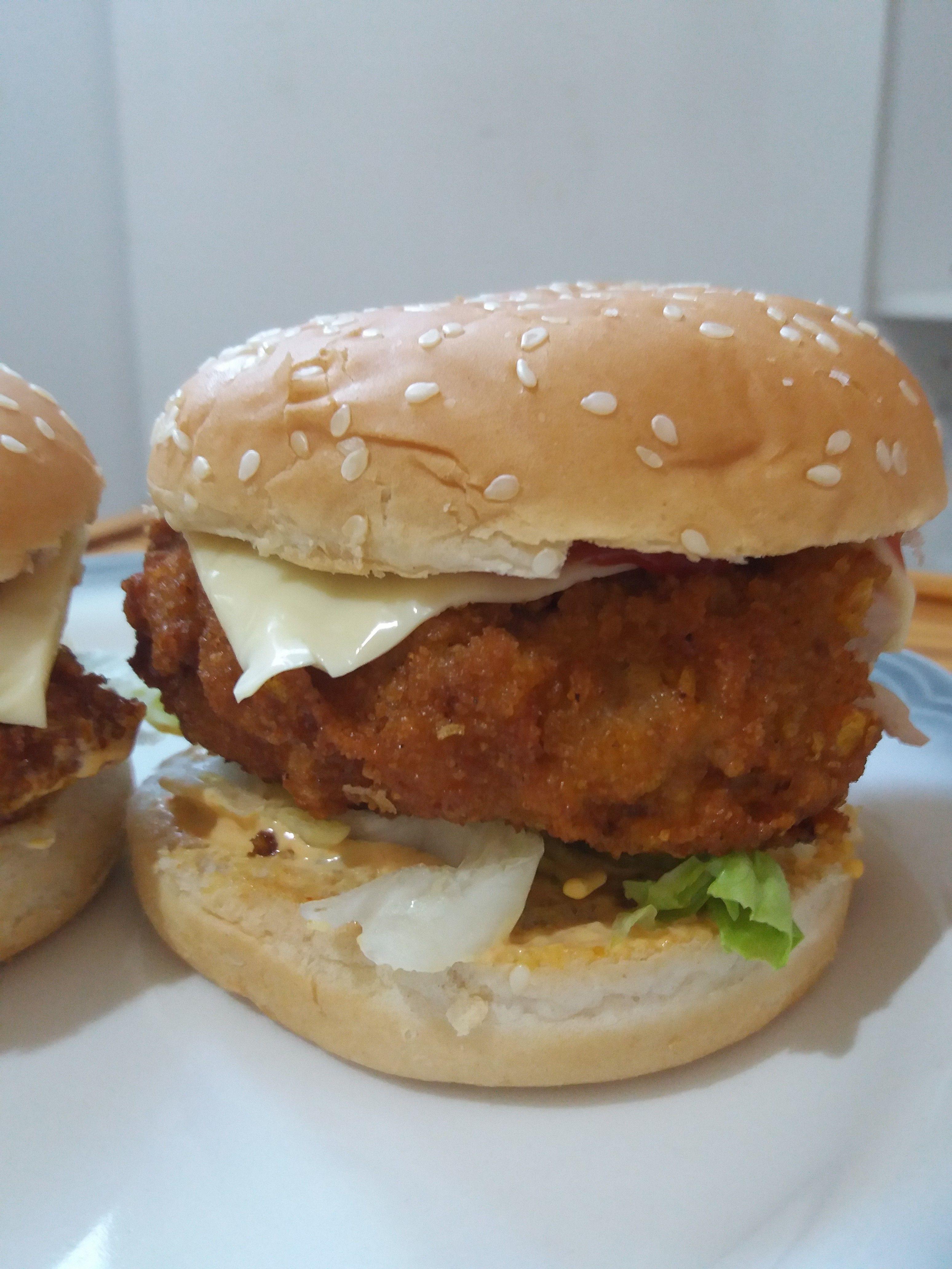 Chicken Zinger Burger Recipe Chicken Zinger Burger Chicken