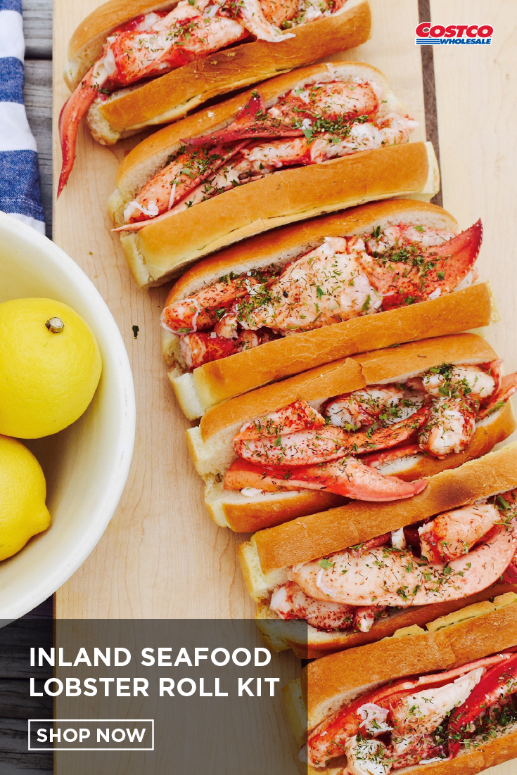 Inland Seafood Lobster Roll kit, 6 split rolls, 1 lb of Lobster Meat. | Lobster  roll, Lobster meat, Gourmet recipes
