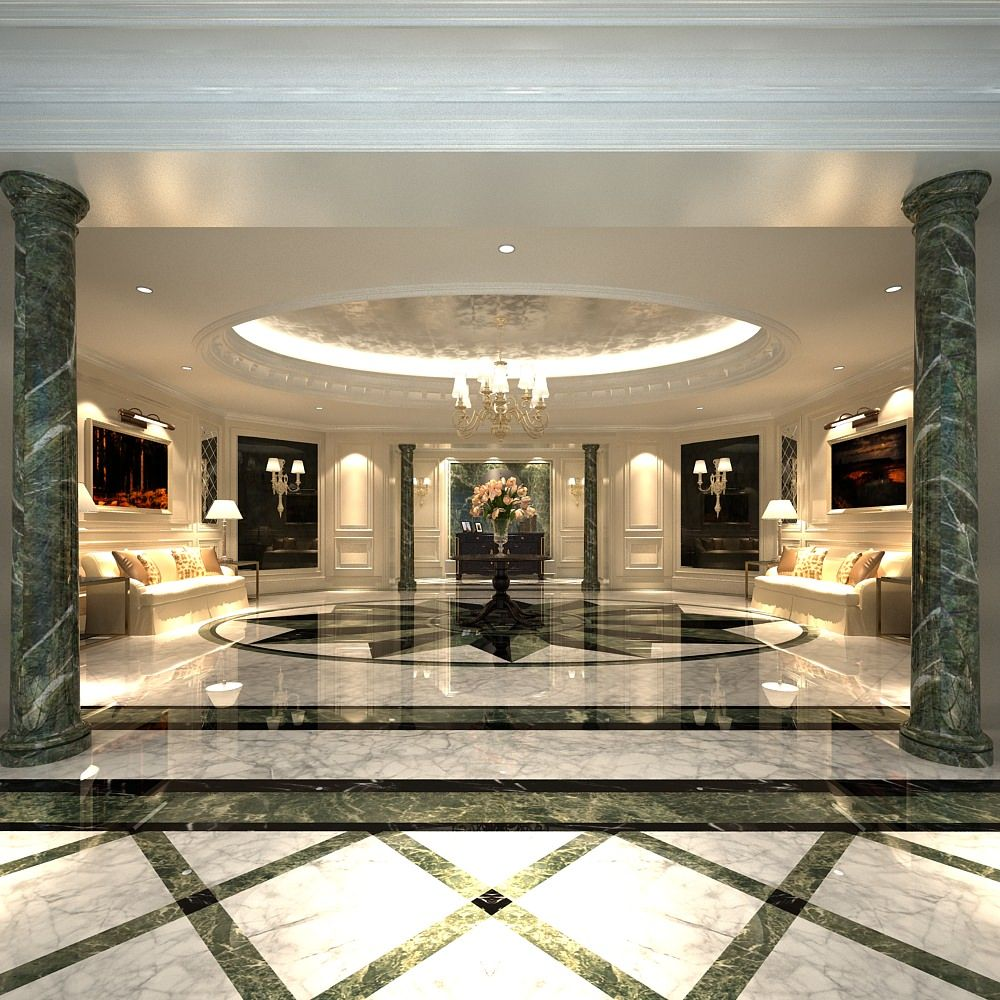 Luxury lobby with marble floor 3d model marble floor lobbies luxury lobby with marble floor 3d model dailygadgetfo Gallery