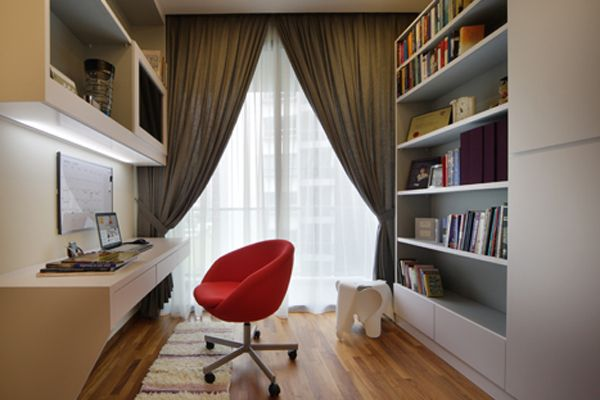 Modern study room soho interior design google search for Study interior design