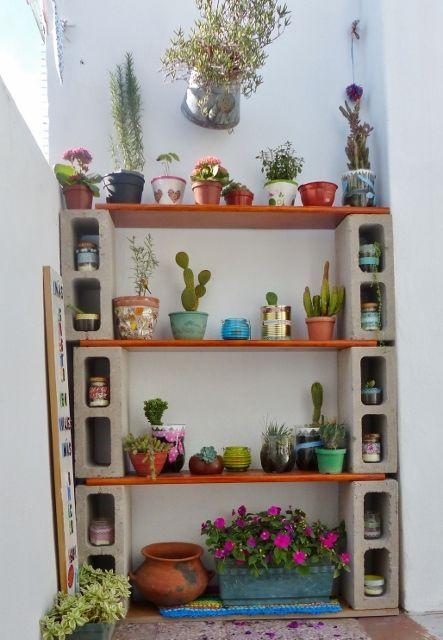 Prateleiras para plantas projetos para experimentar - Estantes para plantas ...