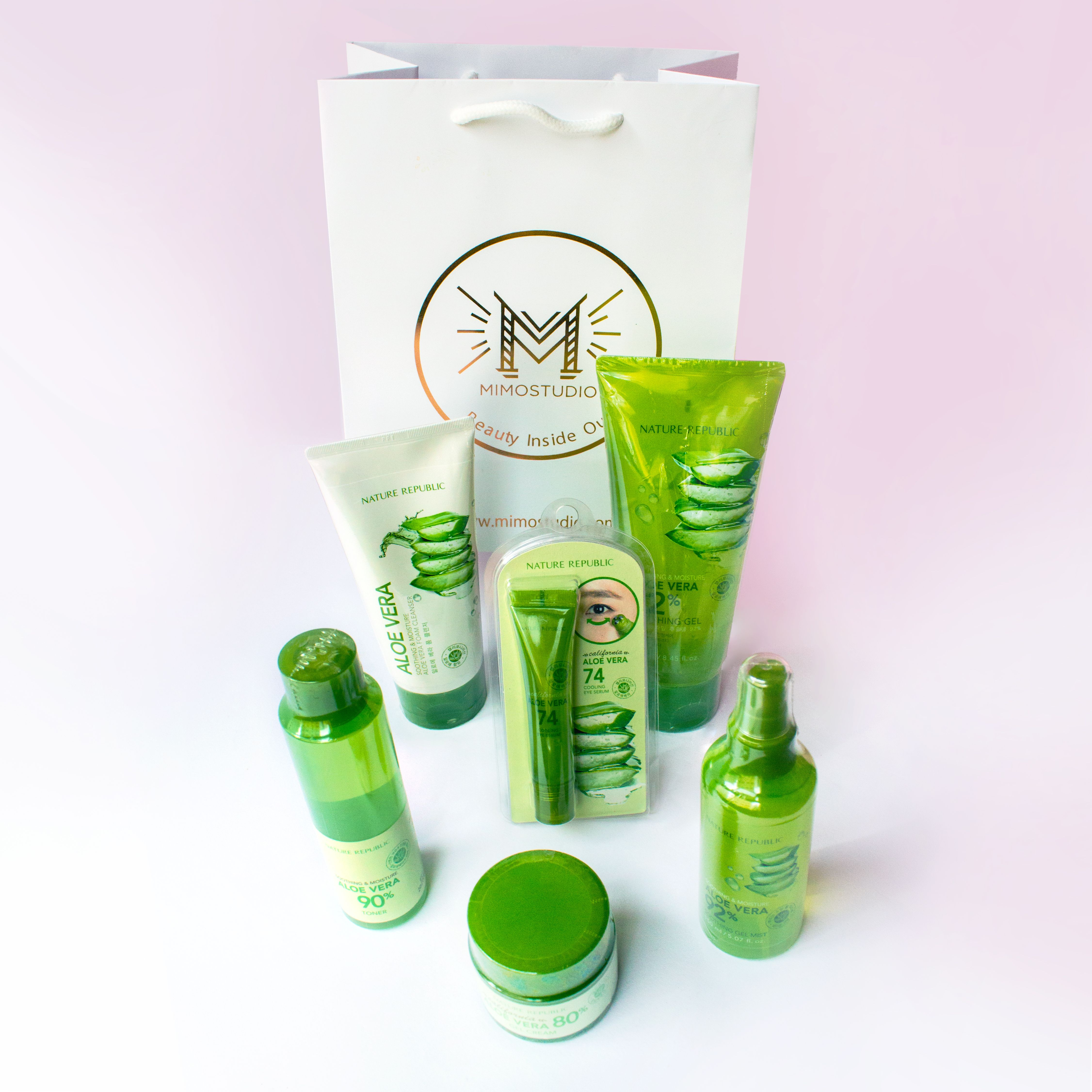 For Your Sensitive Skin Aloe Vera Soothing Gel Included In This Set Nature Republic Aloe Vera Cosmetic Skin Care Aloe