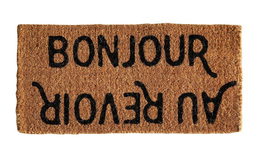 Door Mat Welcome Mat Indoor Outdoor Decorative Cute Bonjour Au Revoir Door Mat Bonjour Coir Doormat