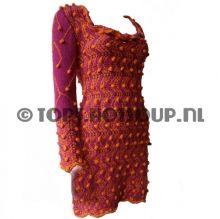Alpacawollen fuchsia jurk/tuniek
