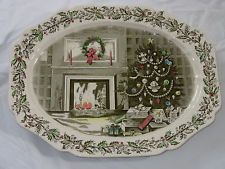 Details about Johnson Brothers MERRY CHRISTMAS Chop Plate (Round