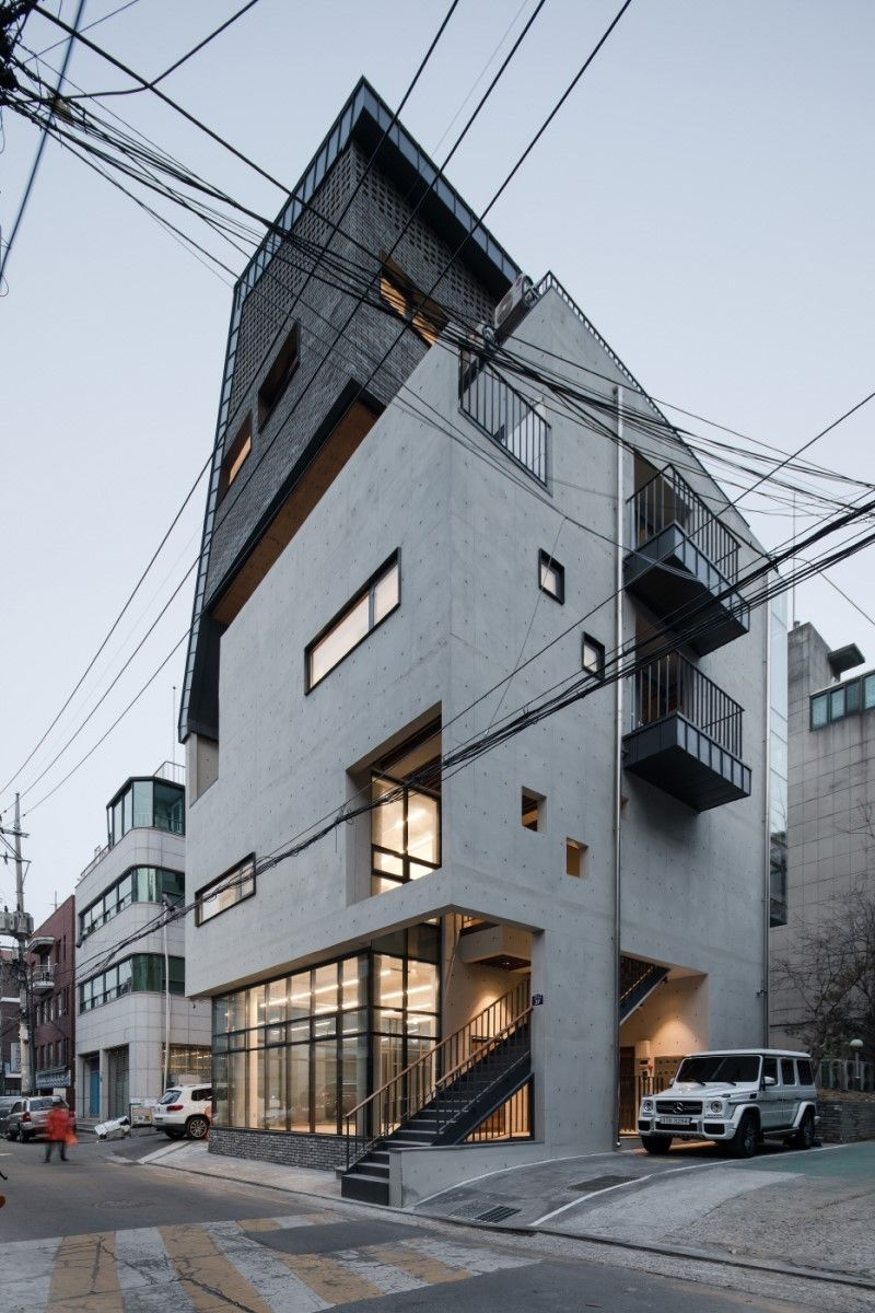 리슈 건축 홍만식의 근린생활시설 신당동 모퉁이 빌딩 네이버 블로그 건축 빌딩 건축 디자인