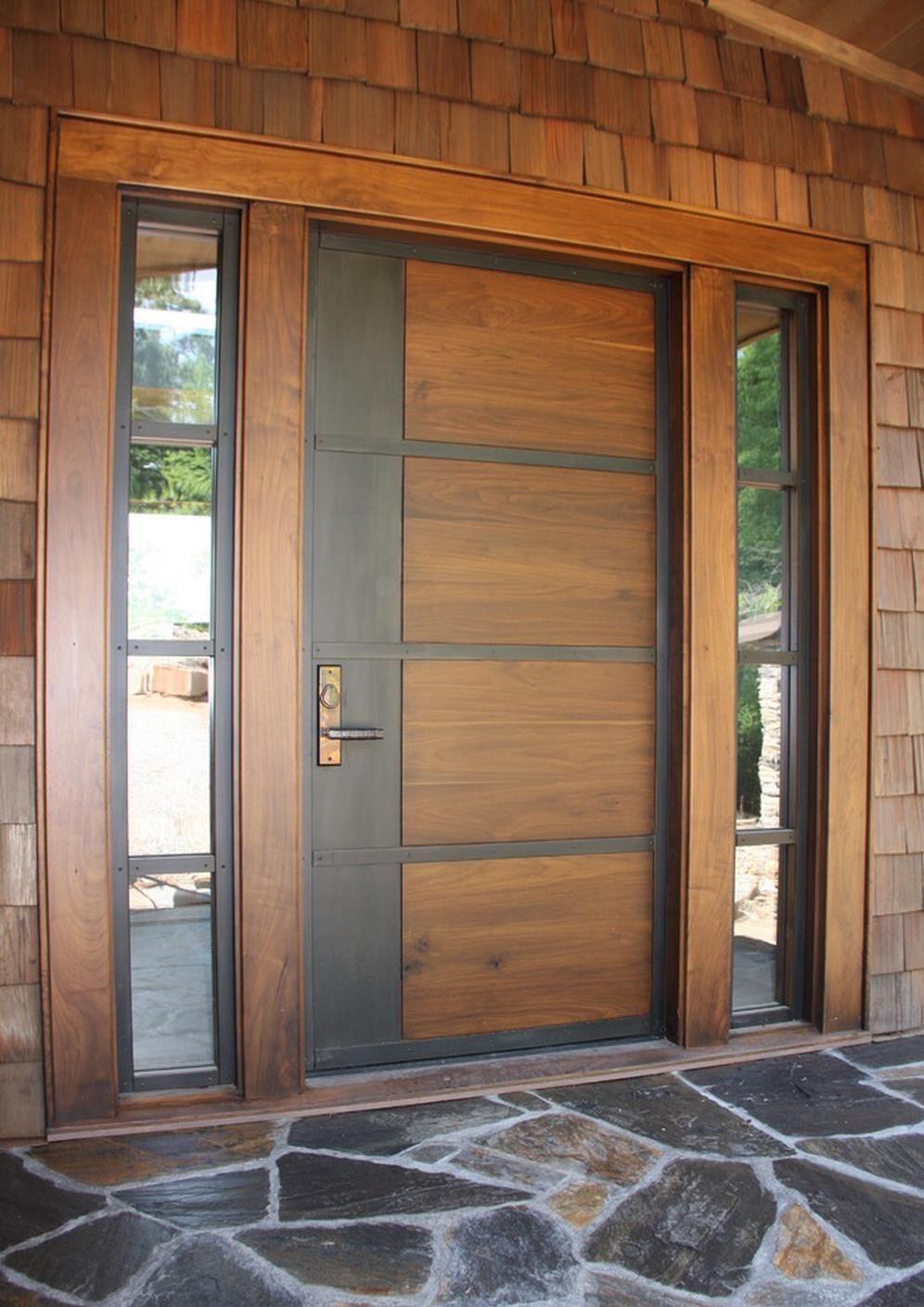 Contemporary Walnut Double Entry Door Google Search