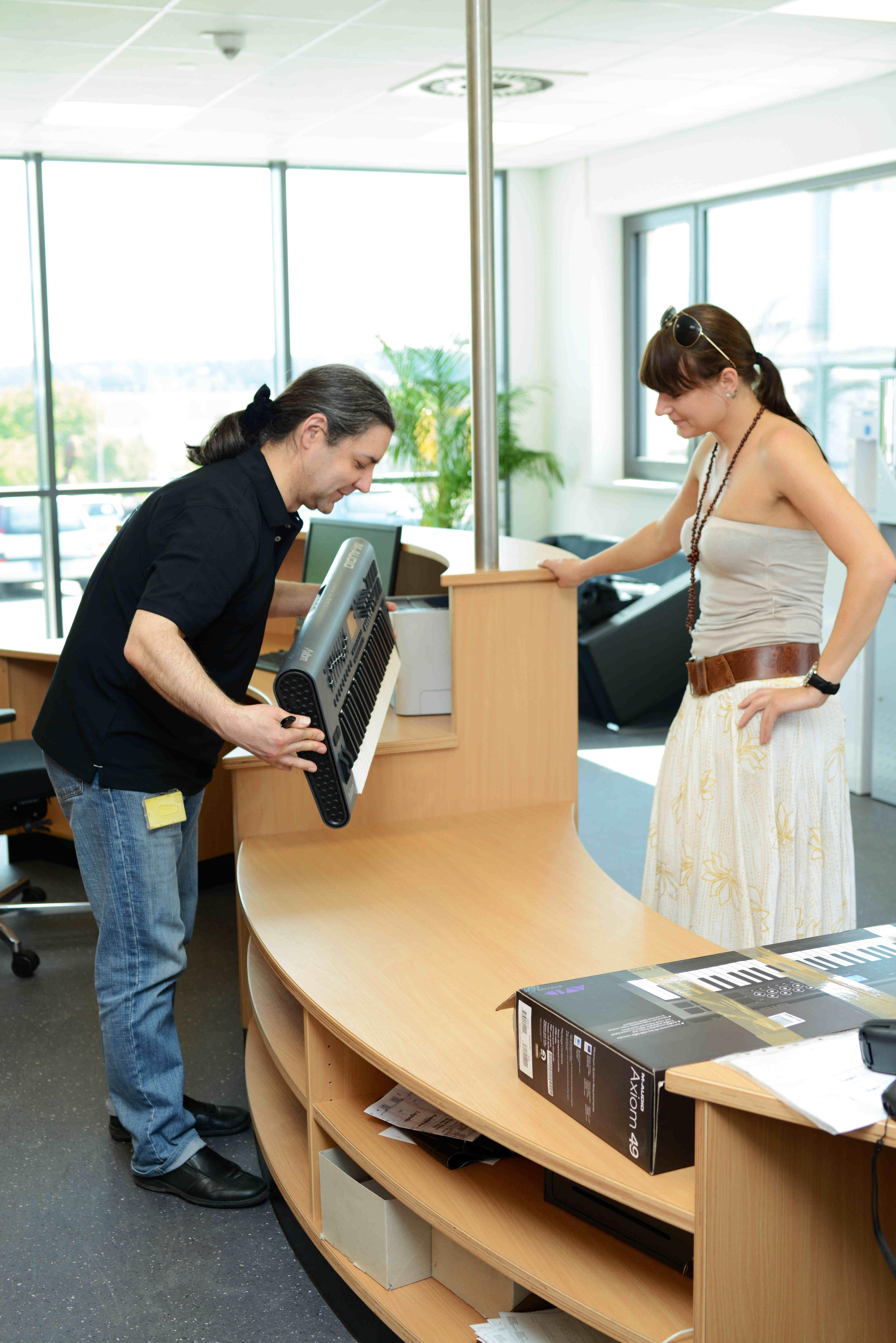 Receiving Room Interior Design: The Receiving Office Of Our Service Center #service