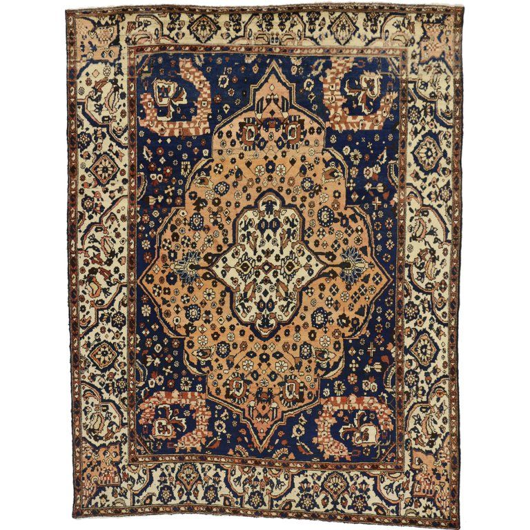 Vintage Persian Bakhtiari Rug With