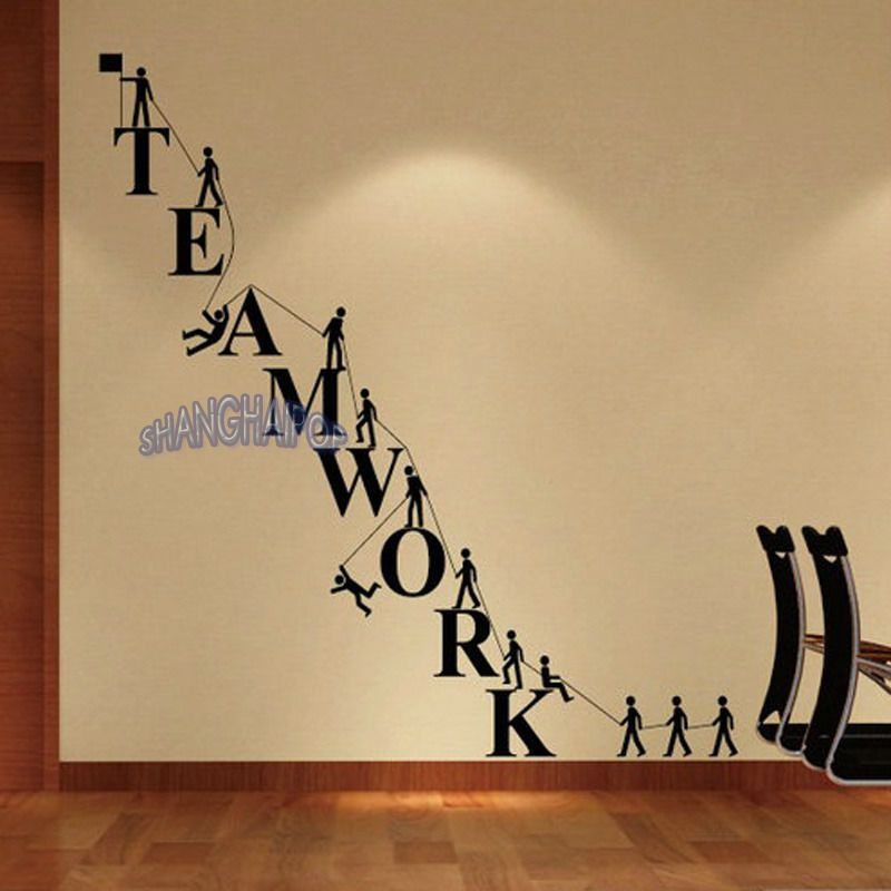 $8.99 AUD - Teamwork Letters Wall Sticker Removable Decal Vinyl ...