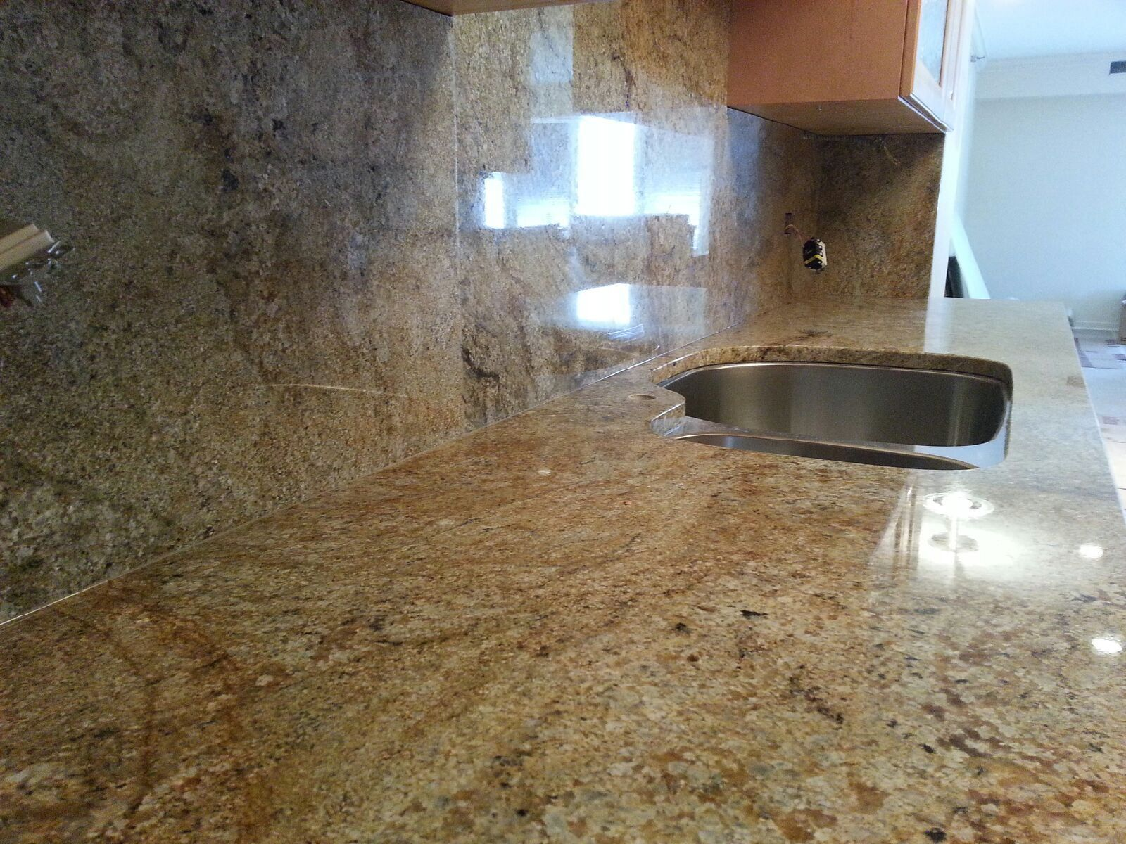 Granite Countertops Installation On Armitage Ave Chicago IL. Kitchen  Countertops From Juparana Vyara With Full Height Back Splash Looks Amazing.