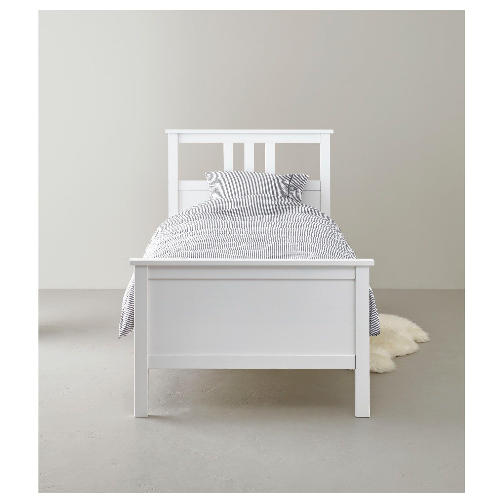Hemnes Rama łóżka Biała Bejca Luröy Apartment