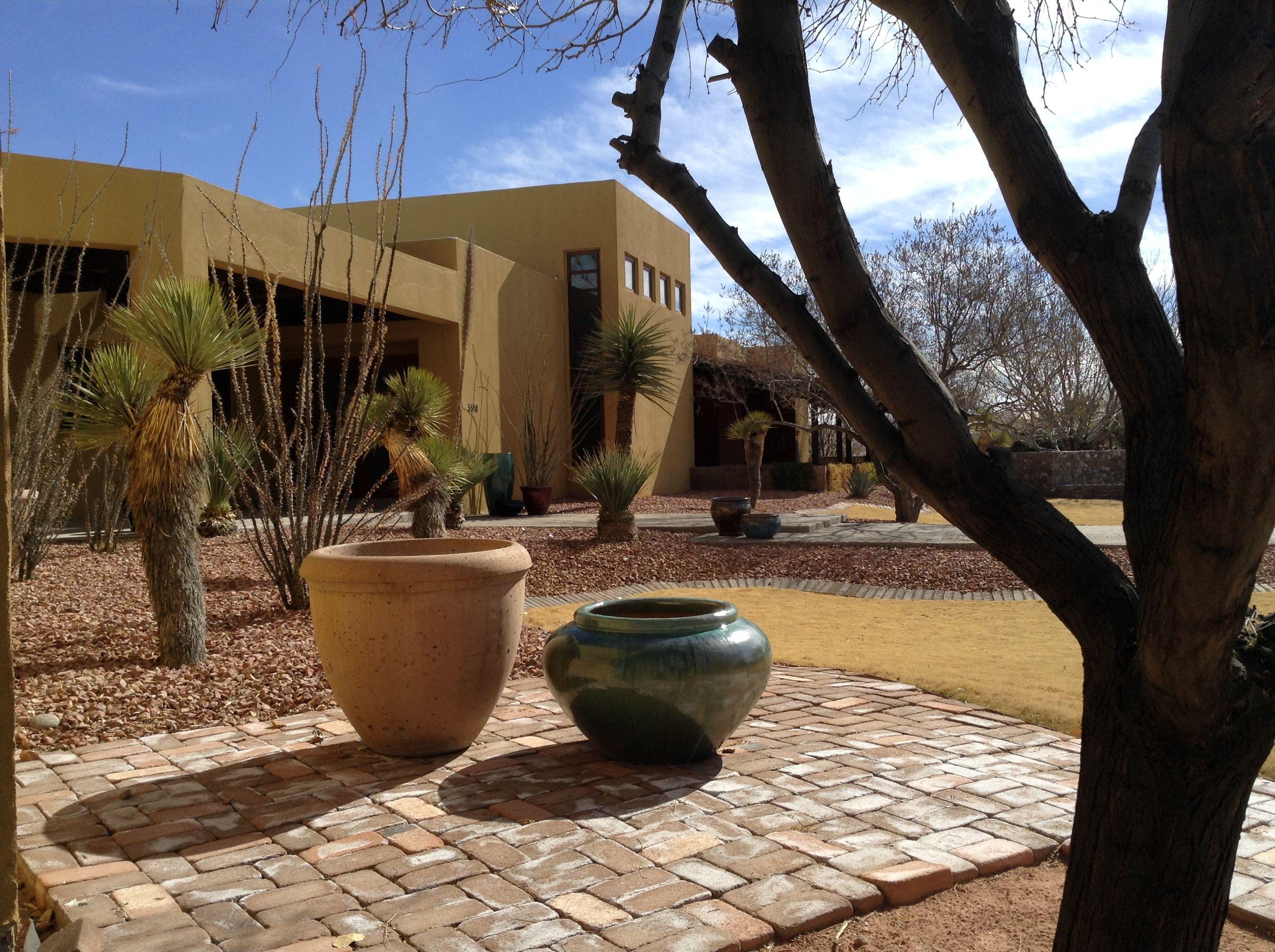 Desert Landscape With Big Clay Pots At El Paso Texas By Studio Ig