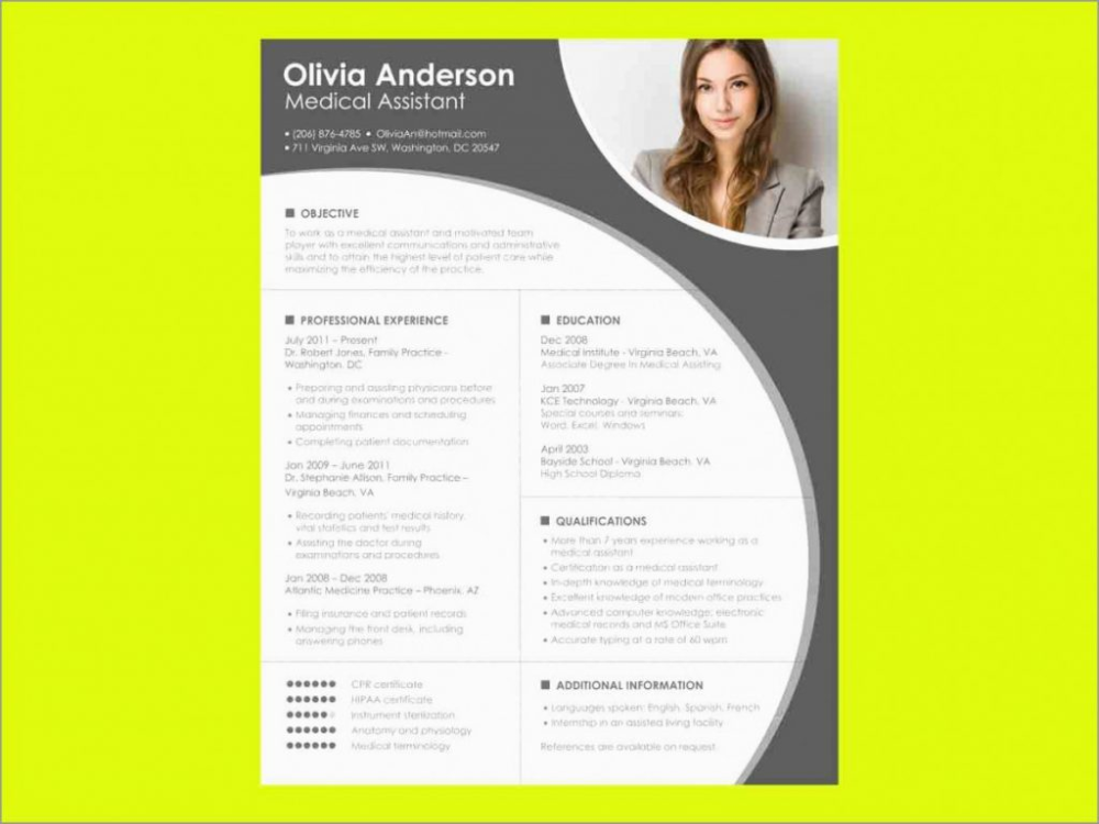 Beautiful Word Document Resume Template Free Download Best Of