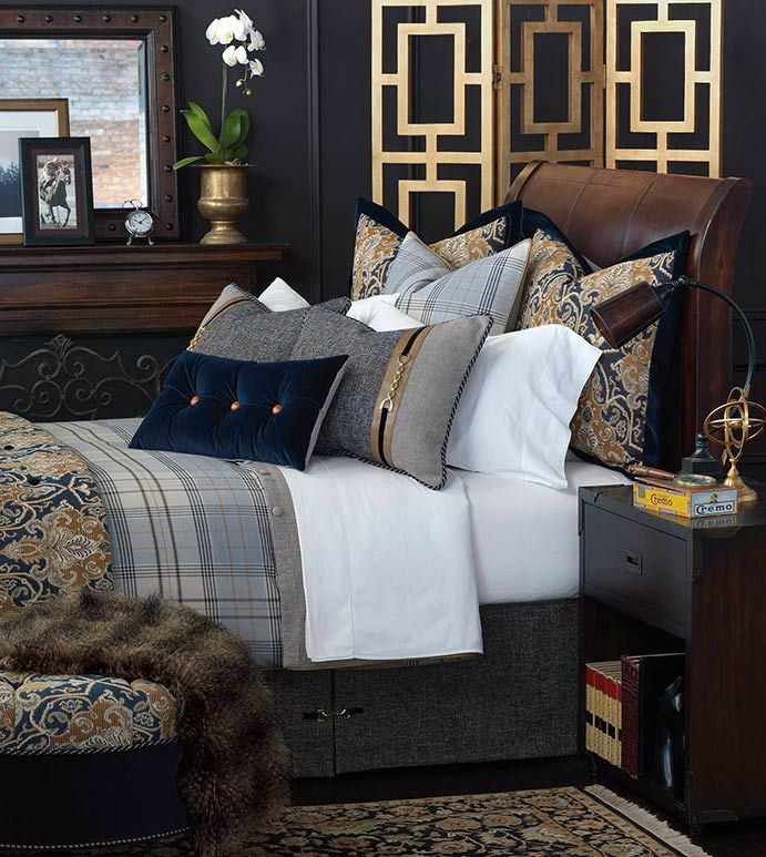 Home Accents DIY Mirror is part of How To Make A Diy C Table With Mirror Accents Free Plans - Arthur Bedset  traditional masculine bedding,handsome bedding set,oxford style bedding set,plaid bedset,navy paisley bedset,classic,traditional,blue and tan,navy and gold,blue velvet,oxford