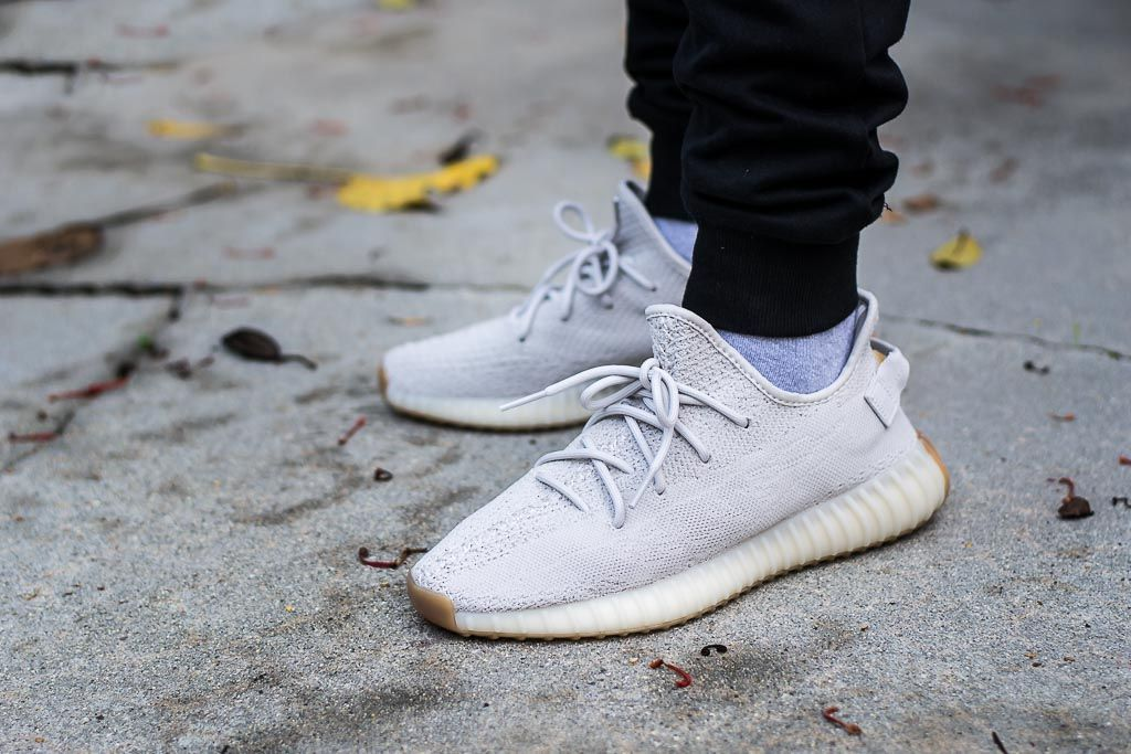 16426370a Adidas Yeezy Boost 350 V2 Sesame On Feet Sneaker Review