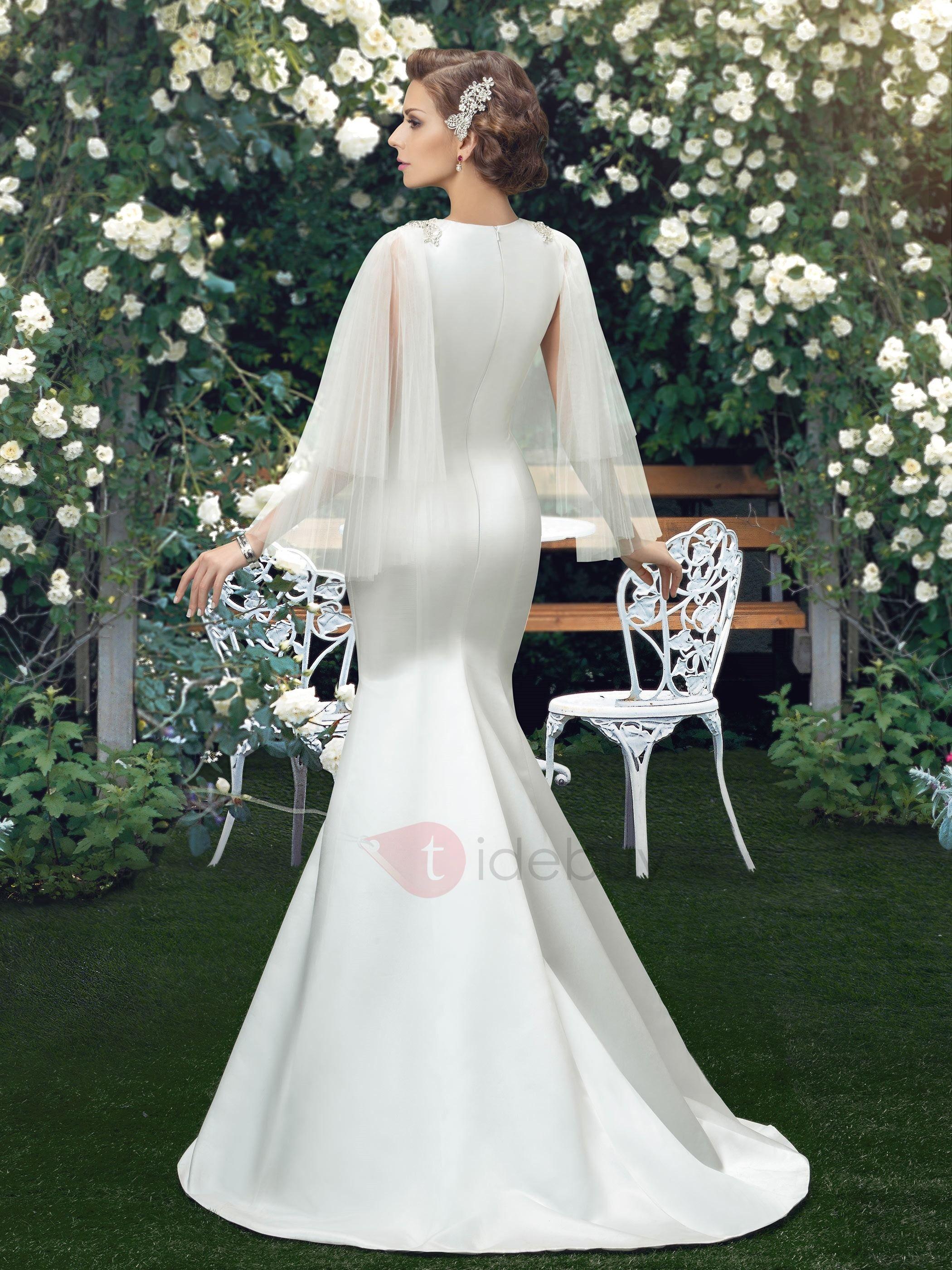 Ladylike Straps Crystal Mermaid Wedding Dress Wedding