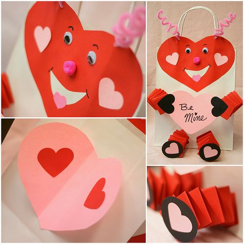 valentine holders made out of paper plates   Bunches and ...
