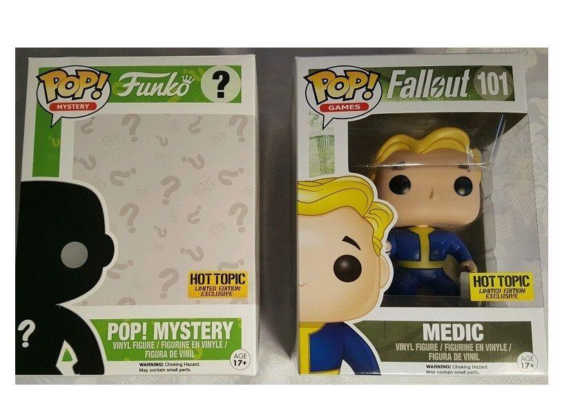 Funko Pop Fallout Vault Boy Medic Mystery Box Hot Topic Exclusive 101 Limited Fallout Funko Pop Funko Pop