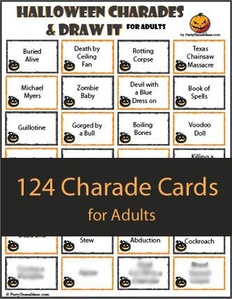 halloween charades and draw it halloween fall halloween games halloween games adults halloween. Black Bedroom Furniture Sets. Home Design Ideas