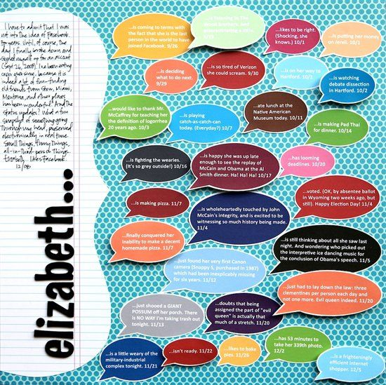 learn how to create speech bubbles in Microsoft word. #scrapbooking