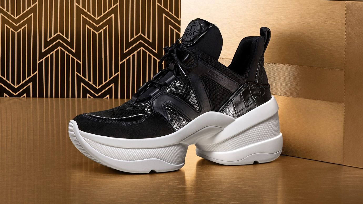 0ed1df102d6 SHOP SNEAKERS | banner in 2019 | Michael kors sneakers, Fashion ...