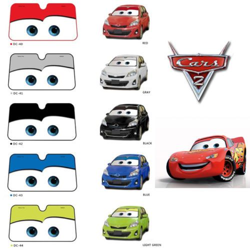 Auto Car Pixar Cars Lightning McQueen Front Car Windshield Sun shade ...