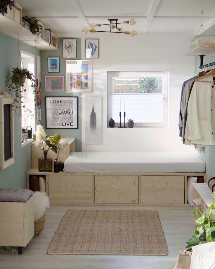 Dein Stauraumwunder: DIY Podestbett mit Schubladen