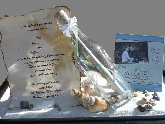 Message in a bottle Wedding Invitation Weddings Wedding and
