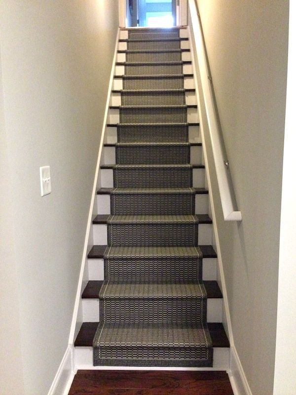 Lighting Basement Washroom Stairs: How To Add A Runner To Stairs