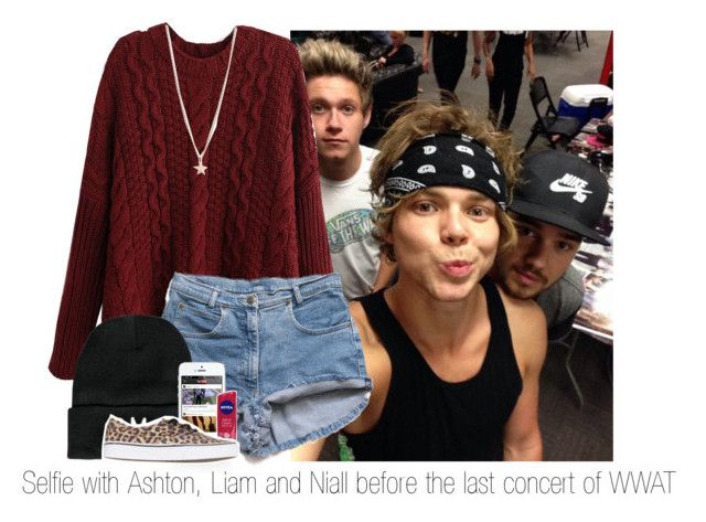 """#Selfie with Ashton, Liam and Niall before the last concert of WWAT"" by shefi-22 ❤ liked on Polyvore featuring Boohoo, Nivea, Vans and Minor Obsessions"