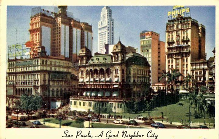 Vale do Anhangabaú, Cartão Postal, 1949