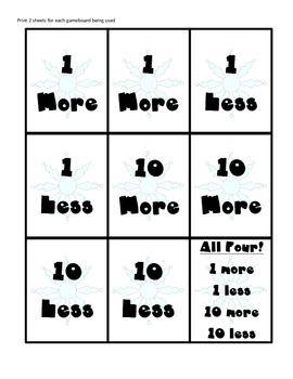 TEN MORE, TEN LESS GAME - TeachersPayTeachers.com