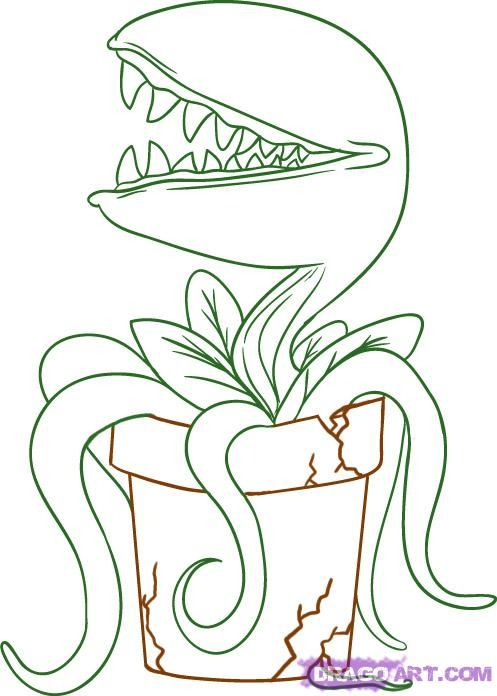 Feed Me Free Coloring Pages Venus Fly Trap Coloring Pages