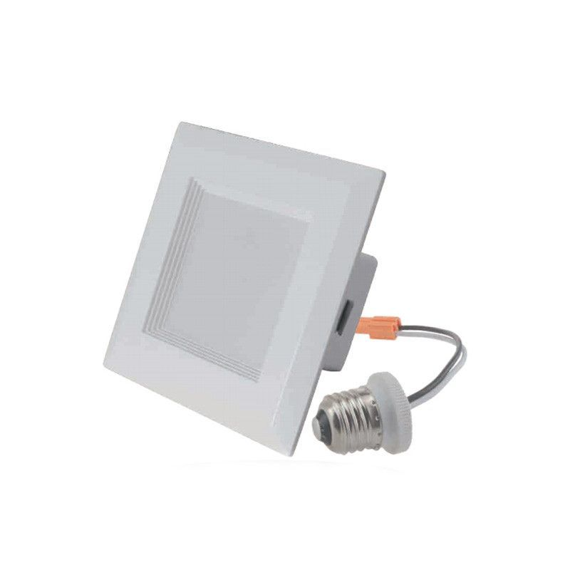 Greenlux 4 Square Led Downlight Retrofit 3000k 10 Watts 120 Volts Dimmable Downlights Led Emergency Lighting