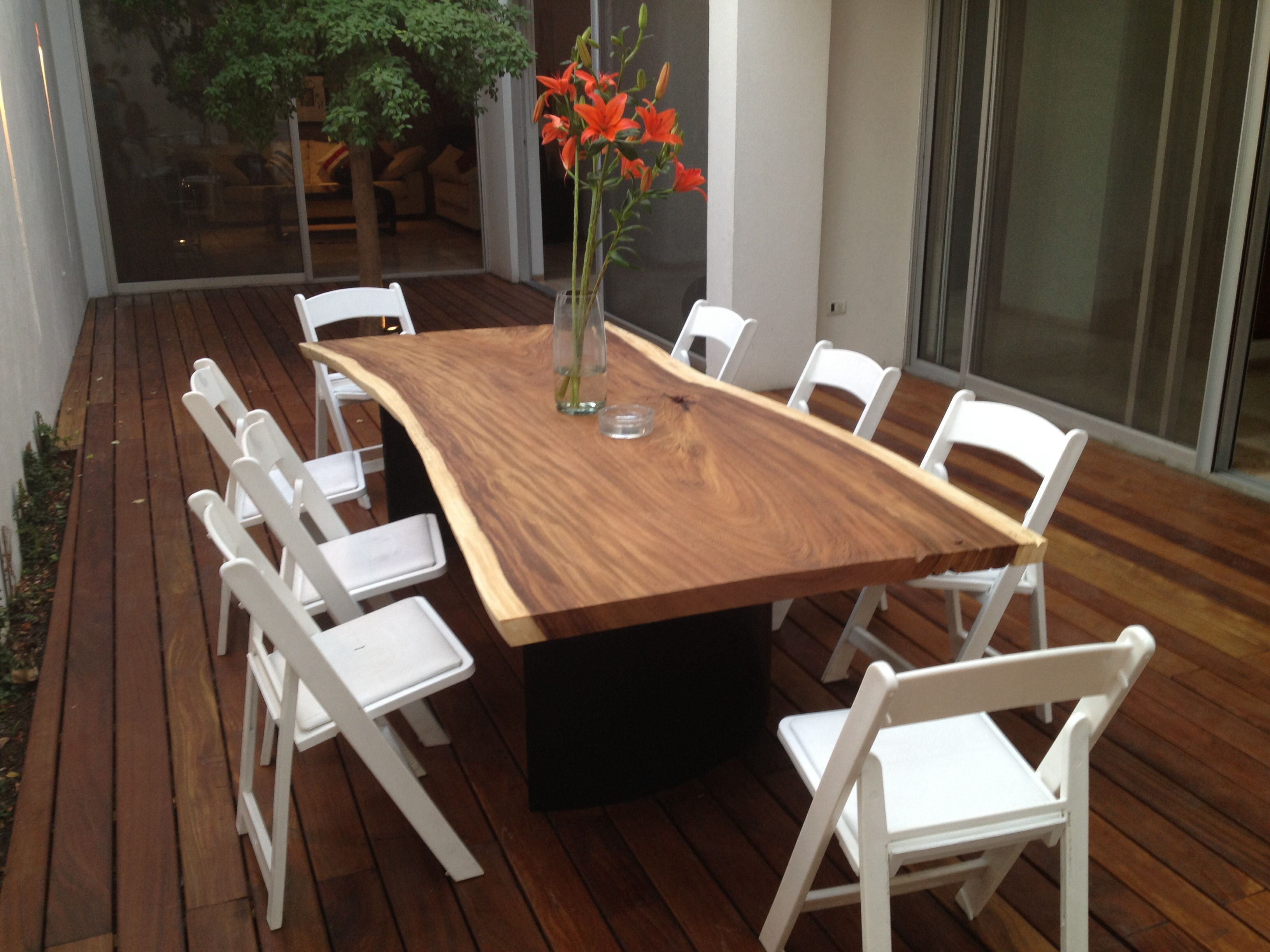 Captivating Terrace Deck And Parota Dining Table