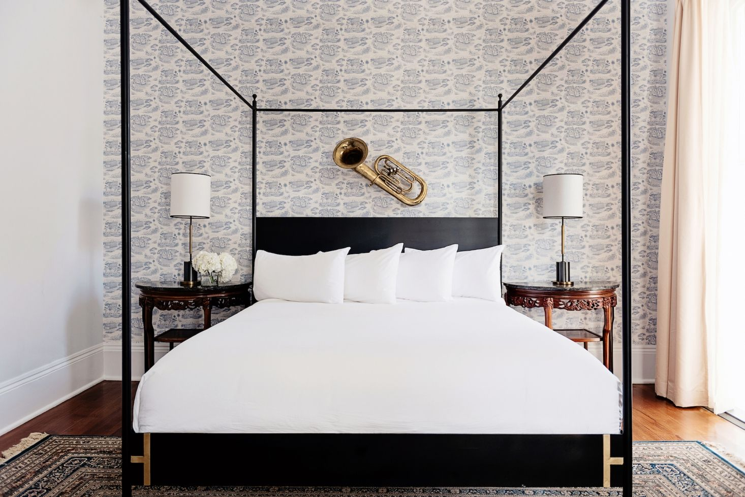 Each Bedroom Sports Toile-style Wallpaper Featuring New