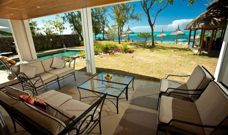 pin by david gervel on location vacances ile maurice beach villa outdoor furniture sets