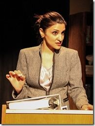 "Arya Daire as Ms. Banerjee in the world premiere of Stage Left Theatre and Theatre Seven's ""Principal Principle"" by Joe Zarrow, directed by ..."
