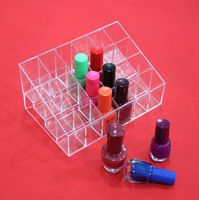 2015 NEW Clear Acrylic 24 Lipstick Holder Display Stand Cosmetic Organizer Makeup Case