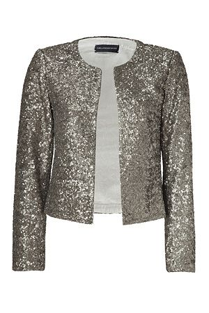 Gold Allover Sequined Grissy Open Cardigan by ZADIG & VOLTAIRE