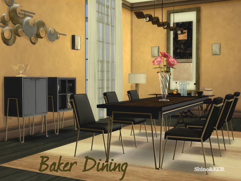 Dining Set Inspired By Jean Louis Deniot Found In TSR Category Sims 4 Room