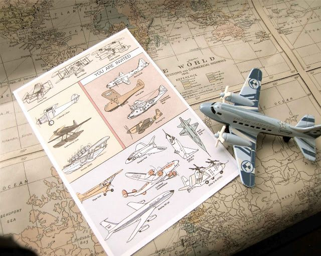 vintage plane party
