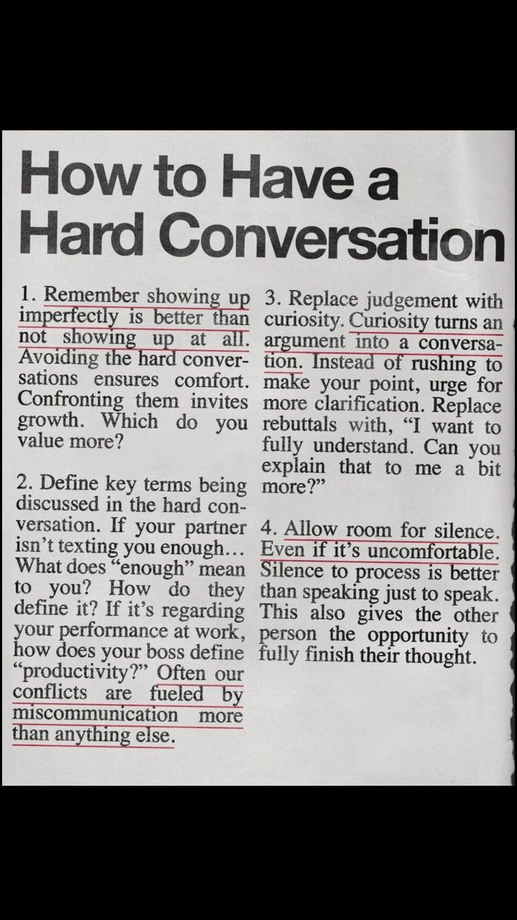 @werenotreallystrangers on Pinterest · How to Have a Hard Conversation