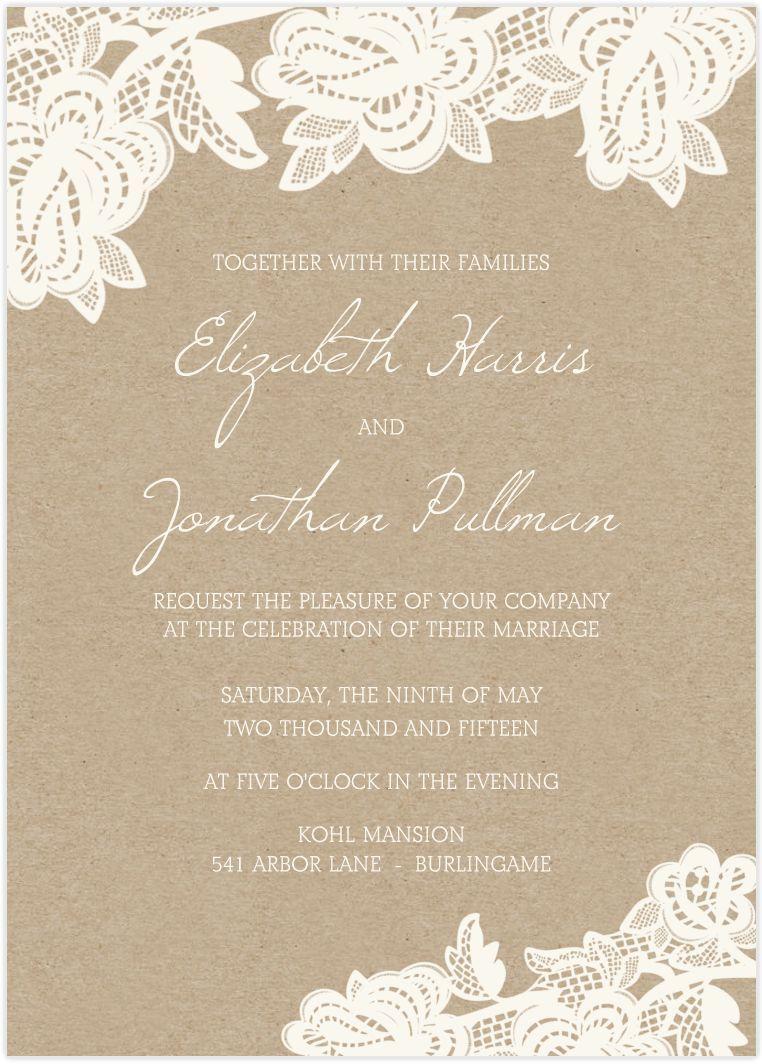 wedding invitation : wedding invitations cards - Free Invitation for ...