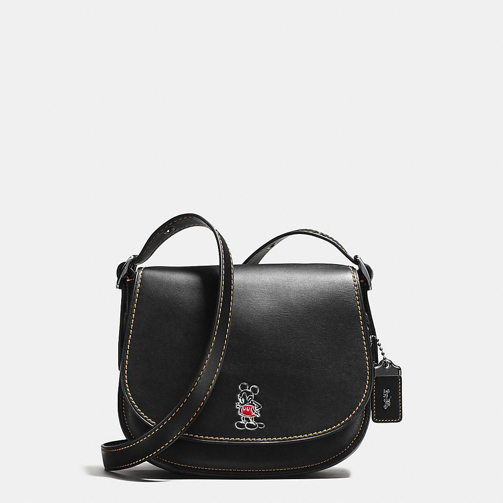 5a173ac0 Disney X Coach - Mickey Saddle Bag 23 in Glovetanned Leather ...