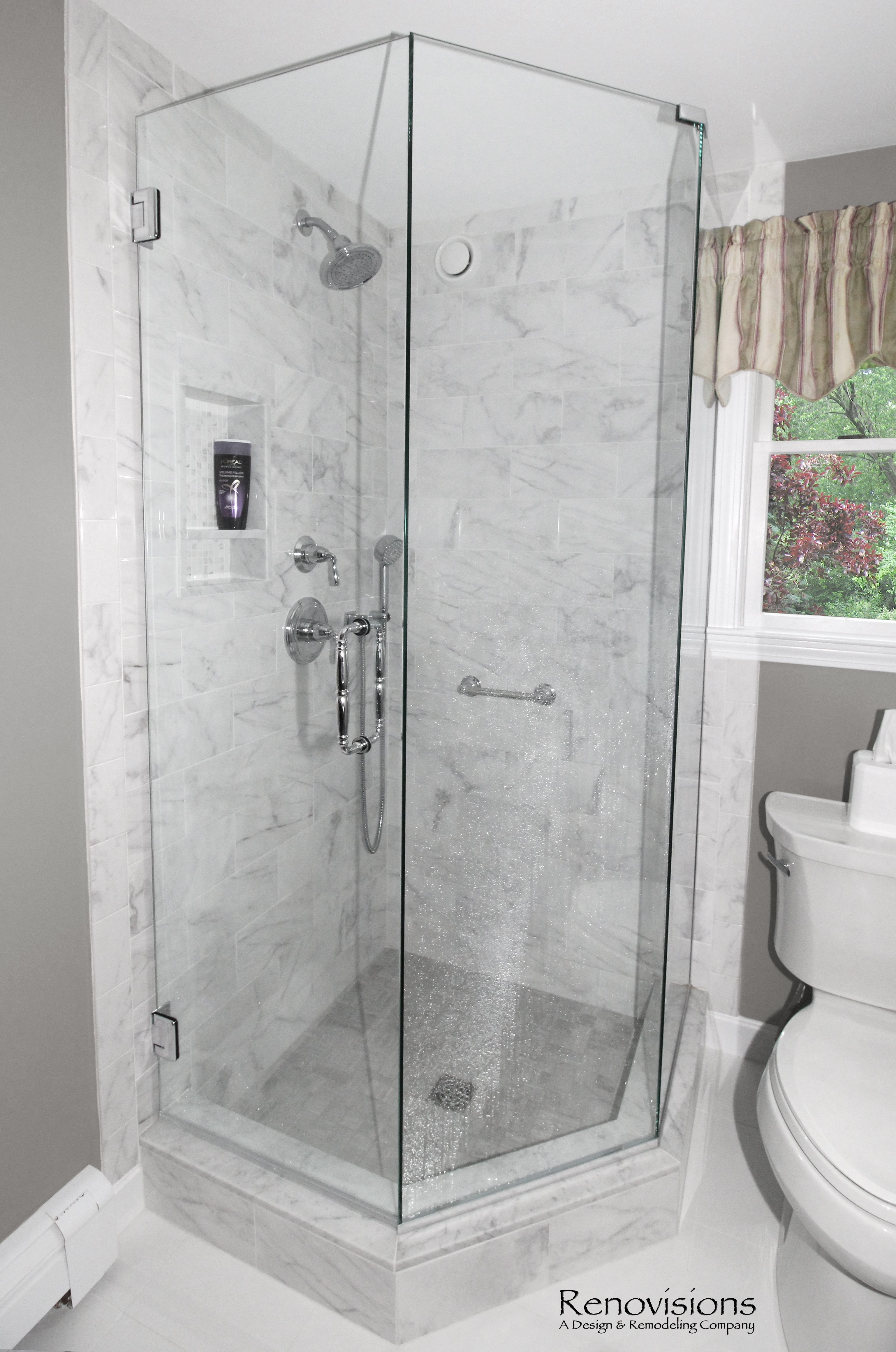 A Completed Full Bathroom Remodel By Renovisions Neo Angle Corner